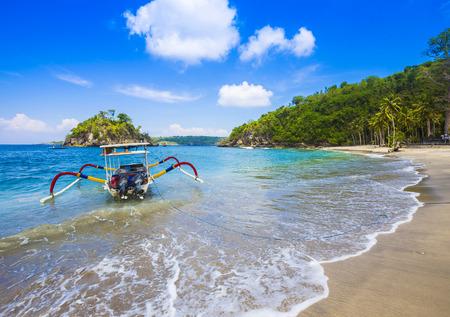 bali beach: Tropical coastline of Nusa Penida island. Bali. Indonesia. Stock Photo