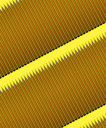 Pattern of dark yellow pencils at yellow background