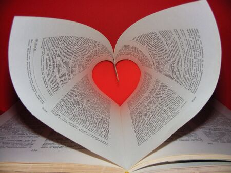 Heart in book Stock Photo - 2676002