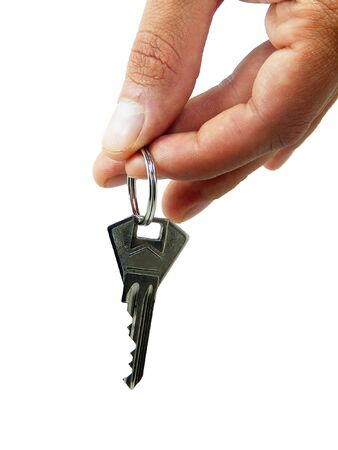 Keys in the hand photo