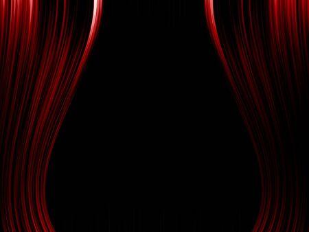劇場のカーテンの図