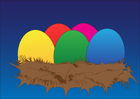 variegated: Easter eggs illustration