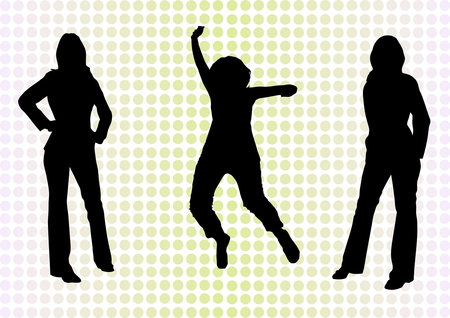 Casual and bussiness girls vector Vector