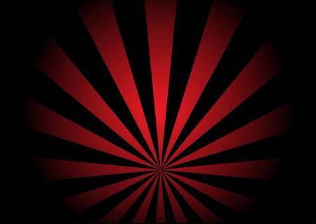 赤と黒の旋回流ベクトル図