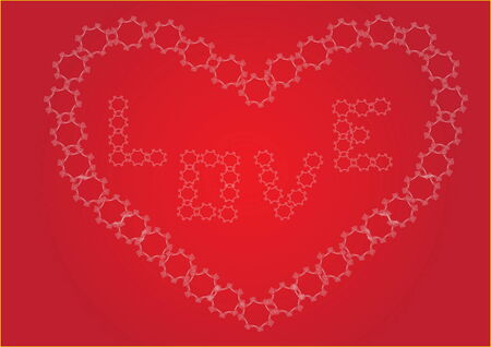 Romantic Valentine vector illustration Vector
