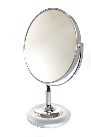 reflection in mirror: Silver mirror Stock Photo