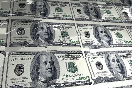 derrumbe: Colapso monetario Foto de archivo