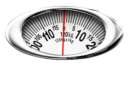 Health scale isolated on white