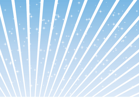 Blue lines and stars background Vector
