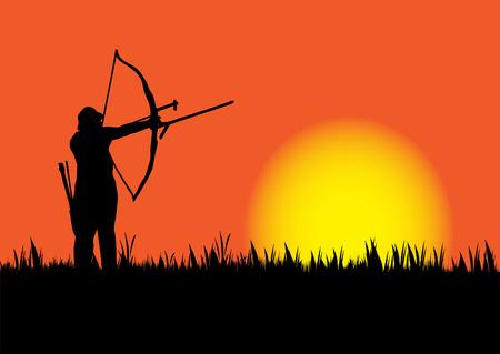 太陽がダウンしたときの狩猟