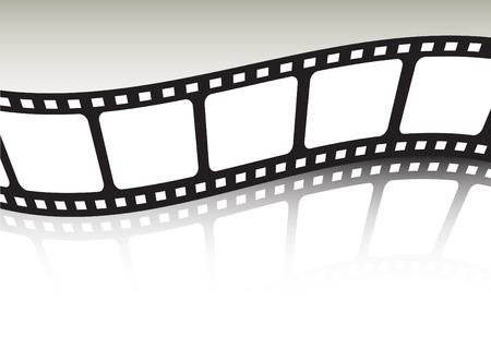 フィルム ストリップを反映し、ツイスト