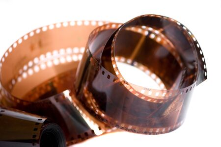 Film roll isolated on whiite background photo