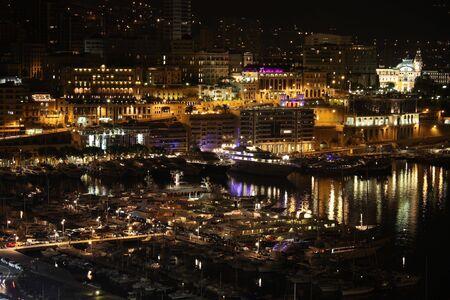 Beautiful port of Monte Carlo- glamure by night