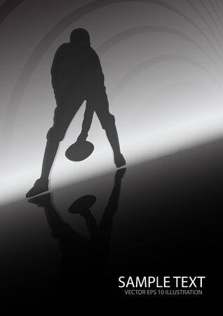 アメリカン ・ フットボール スポーツ バック グラウンド - スポーツのベクトルの背景