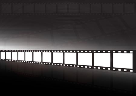 Modern movie vector background illustration - Glossy vector film vector tape reflected Stock Vector - 8085783