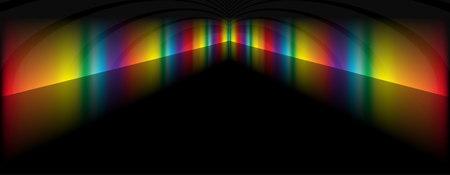 rainbow slide: Colored in rainbow hallway design template - Rainbow vector background illustration