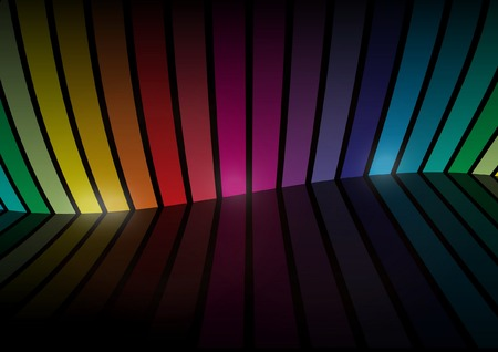 red stripe: Virtual rainbow color vector  space - Rainbow vector background space illustration