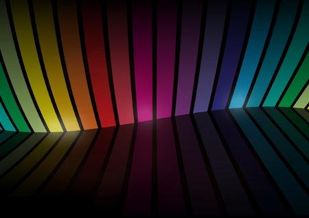Virtual rainbow color vector  space - Rainbow vector background space illustration Stock Vector - 8085786