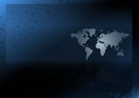 Modèle de conception monde carte vecteur - illustration de mise en page web Vector