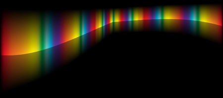 rainbow slide: Rainbow color  design vector template - Background vector  space illustration