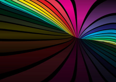 rainbow stripe: Colorful vector design template - Web layout in rainbow colors Illustration