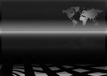 World map design template - layout background illustration