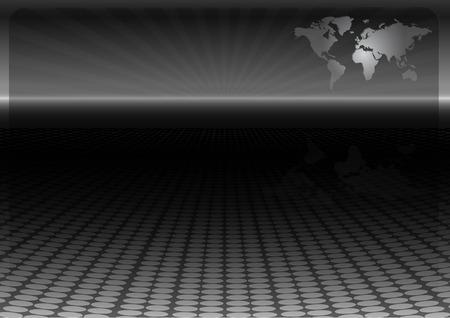 World map technology vector design template - News vector layout background