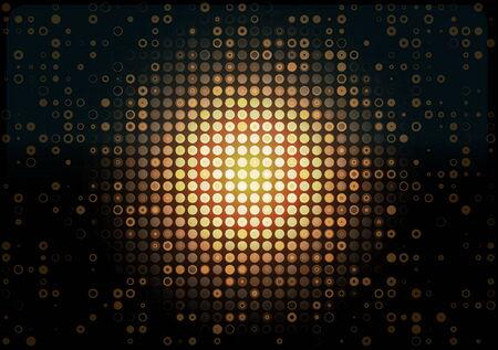 Web design orange vector pattern - Neon glowing background for web design Illustration