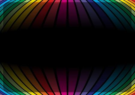 rainbow slide: Rainbow colors vector template
