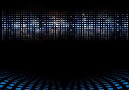 Vector blue techno web template - Techno futuristic background illustration