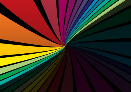 Vector rainbow color design template - Web background illustration in rainbow colors Stock Vector - 8381038