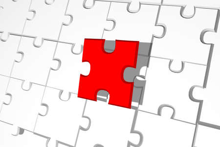 business game: Finish the puzzle background - finishing business game