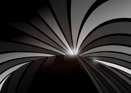 Vector dark abstract striped  background - Vector dark background illustration Illustration