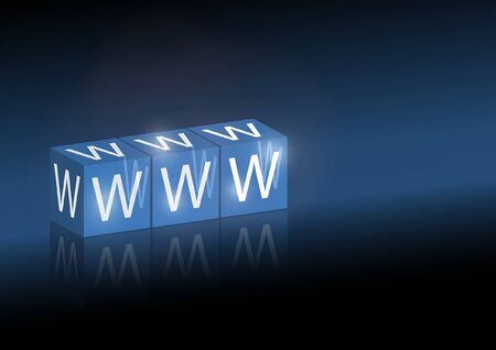 WWW vector text background - Website vector template illustration Illustration