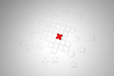 パズル ゲームの背景イラスト - ビジネス パズル背景イラスト