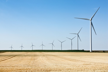 aero generator: Wind generators - Power from renewable source Stock Photo