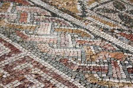 Beautiful Roman Mosaics Stock Photo