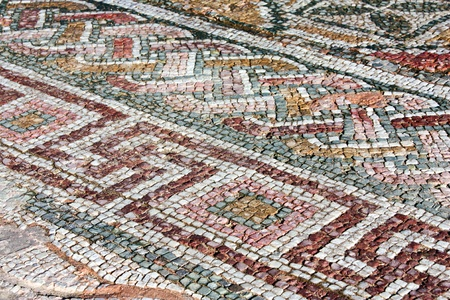 Ancient Roman mosaic texture  photo