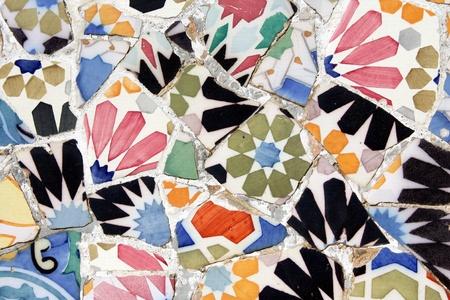 gaudi: Antoni Gaudi mosaic works from Barcelona
