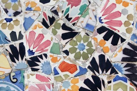 Antoni Gaudi mosaic works from Barcelona photo