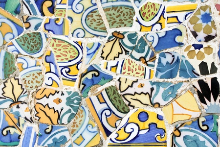 Antoni Gaudi mosaic works from Barcelona photo