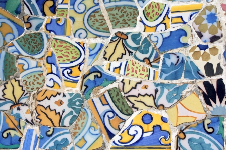 Antoni Gaudi mosaic works from Barcelona Stock Photo - 8753225