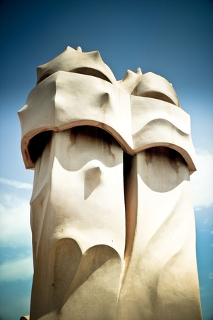 Chimneys of La Pedrera - La Pedrera in Barcelona photo