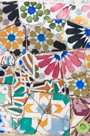 Antoni Gaudi mosaic works from Barcelona