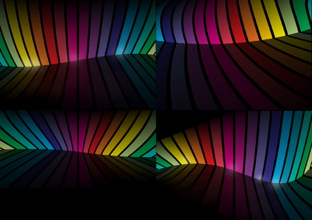 Virtual rainbow color background collection - Rainbow background space illustration set