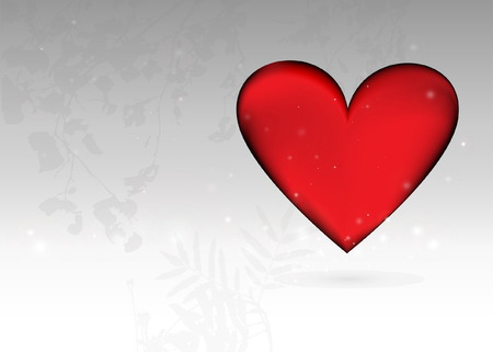 Valentine heart background template Vector
