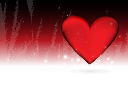love and Valentine heart background template - love background illustration Vector