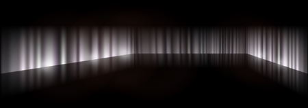 shiny black: Dark background scene - Scary 3D background illustration Illustration