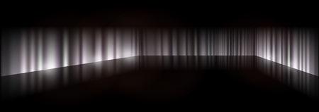 Dark background scene - Scary 3D background illustration