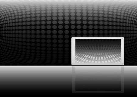 Modern banner background illustration - Techno background web template Stock Vector - 8753252